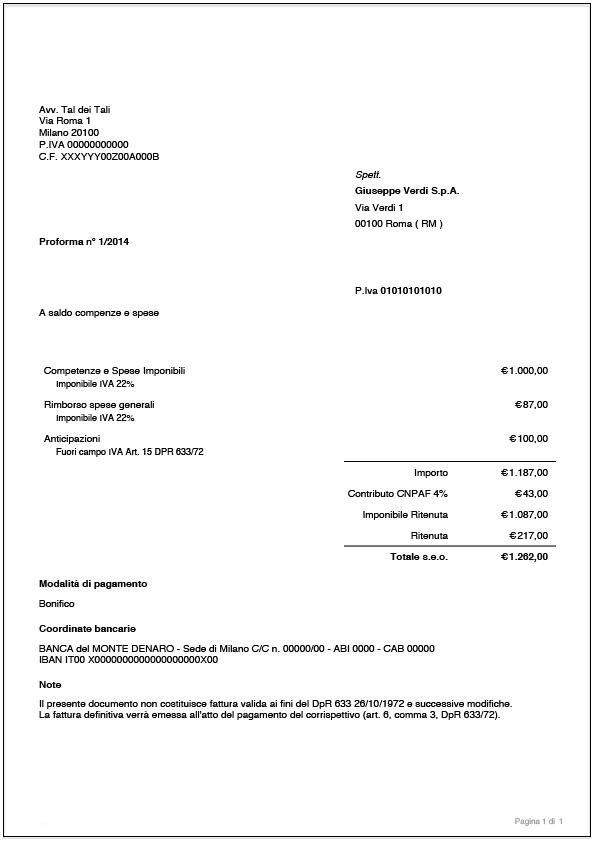 Proforma Avvocato completa PDF